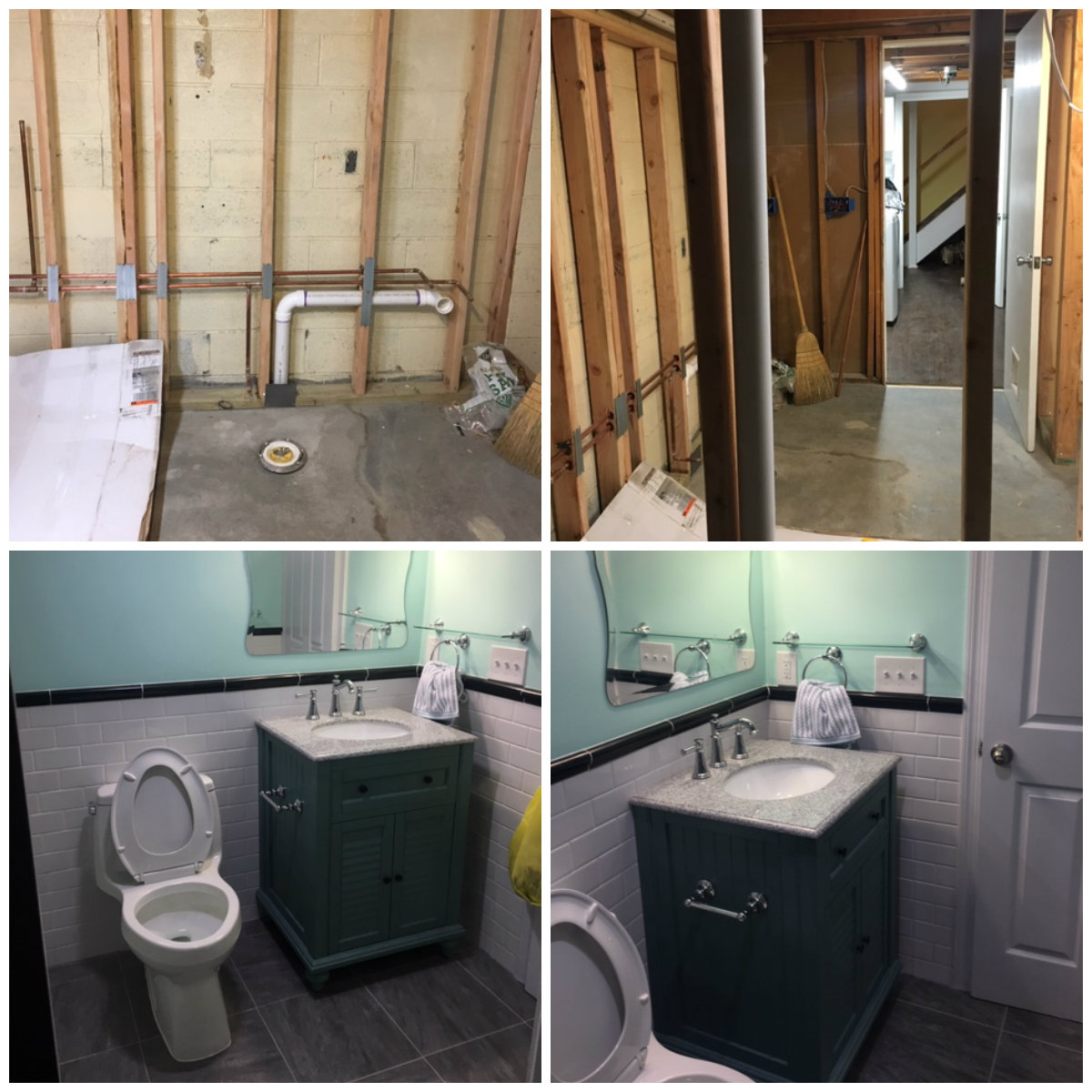 Unfinished basement remodel - Watchung NJ - B & B Maintenance